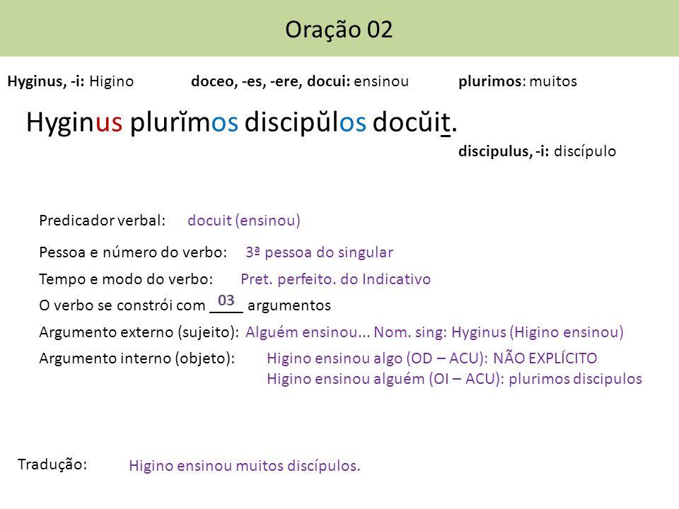 Hyginus plurĭmos discipŭlos docŭit.