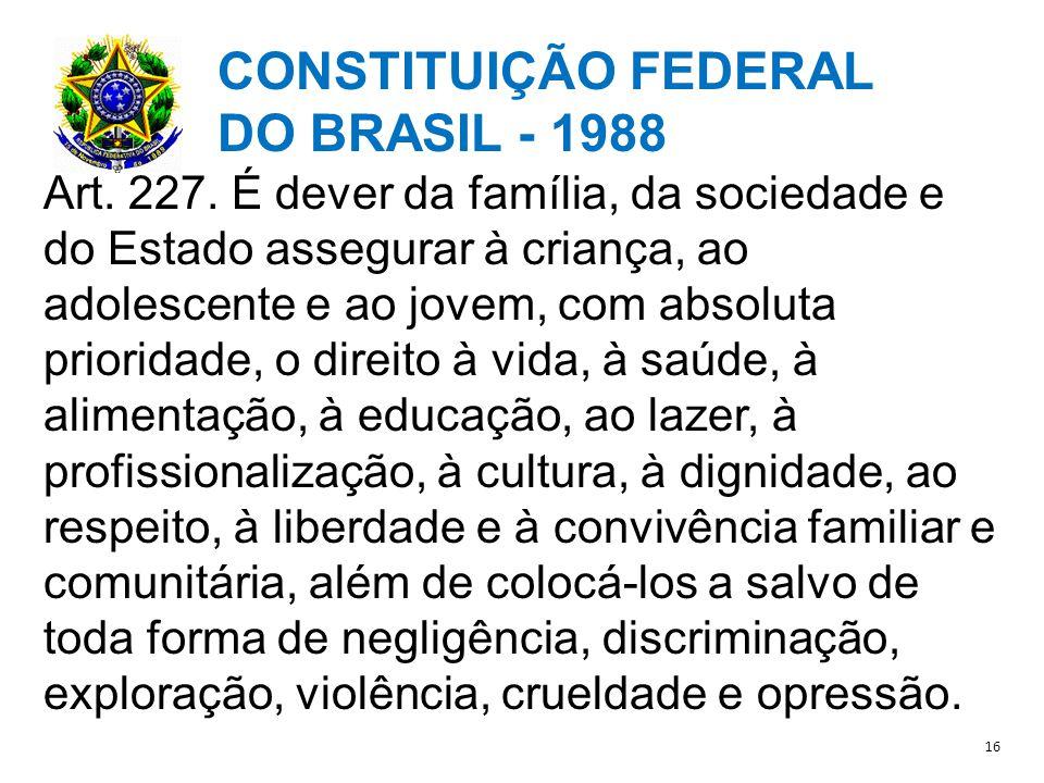 CONSTITUIÇÃO FEDERAL DO BRASIL - 1988