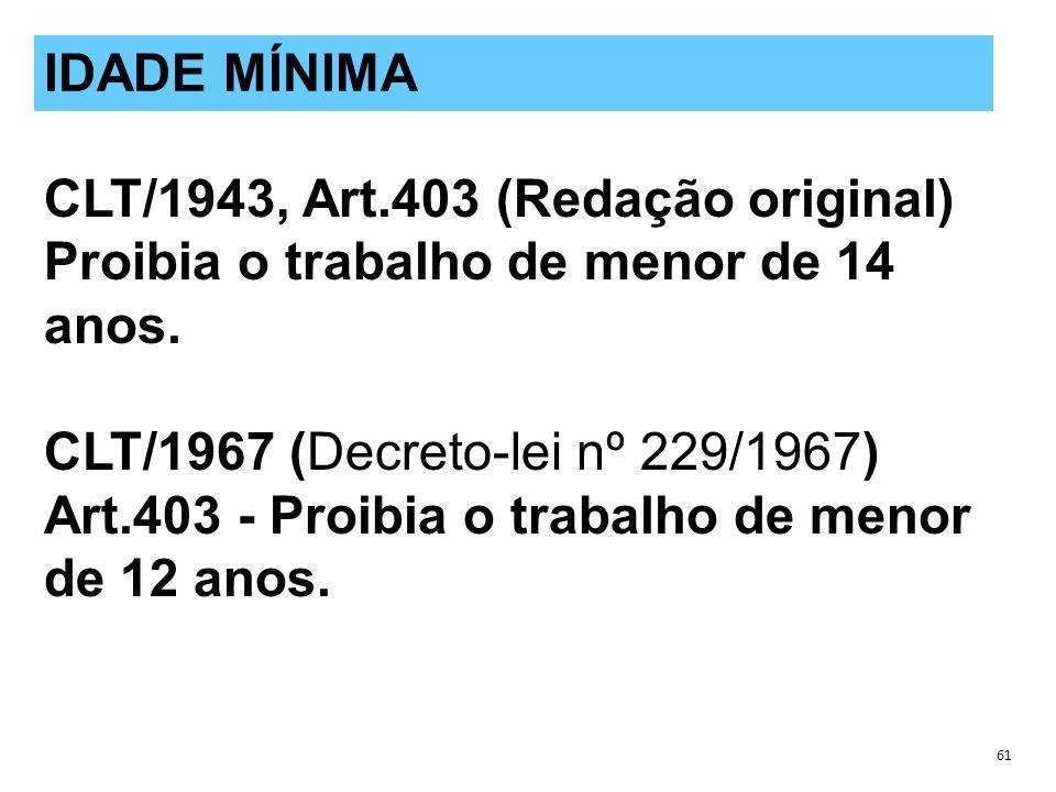 CLT/1943, Art.403 (Redação original)