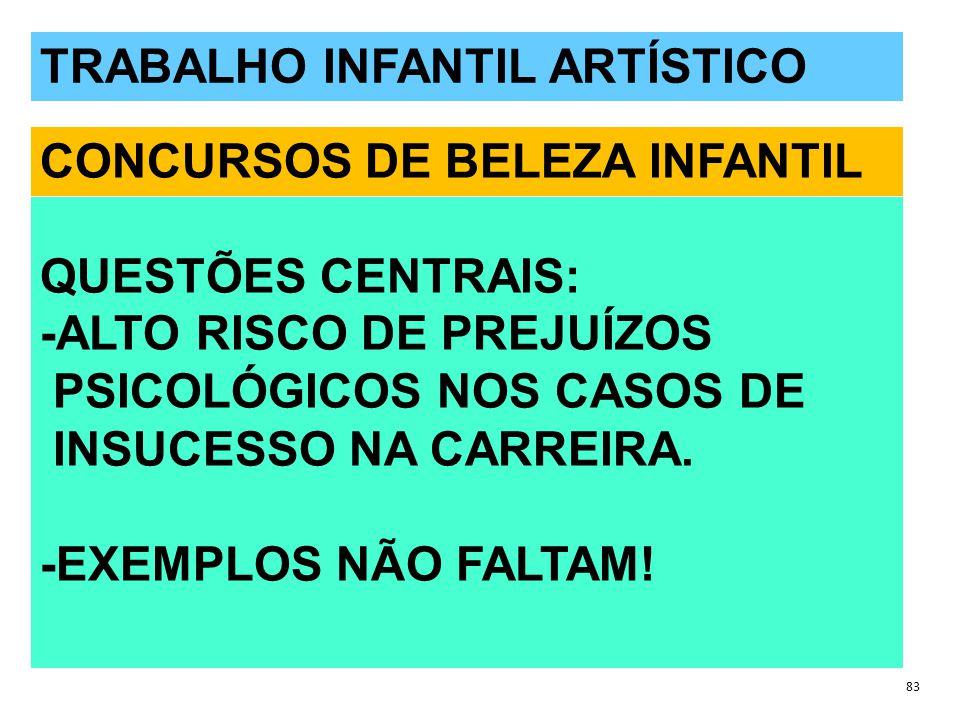 TRABALHO INFANTIL ARTÍSTICO