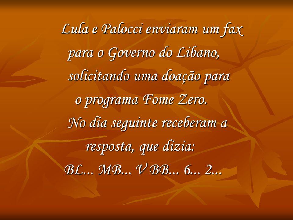 Lula e Palocci enviaram um fax