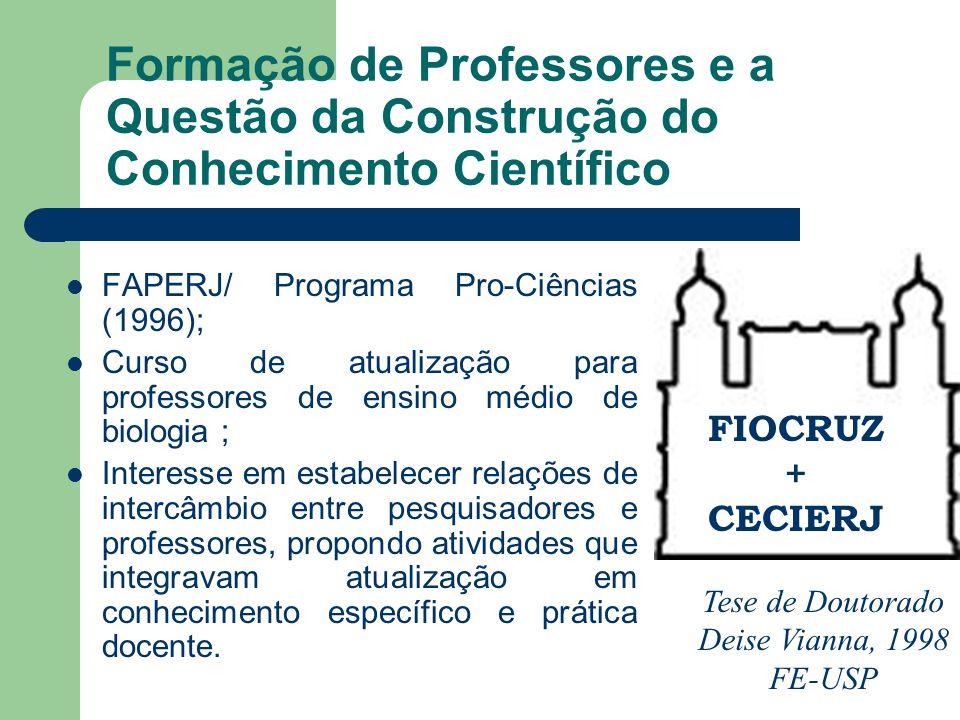 Formação de Professores e a Questão da Construção do Conhecimento Científico
