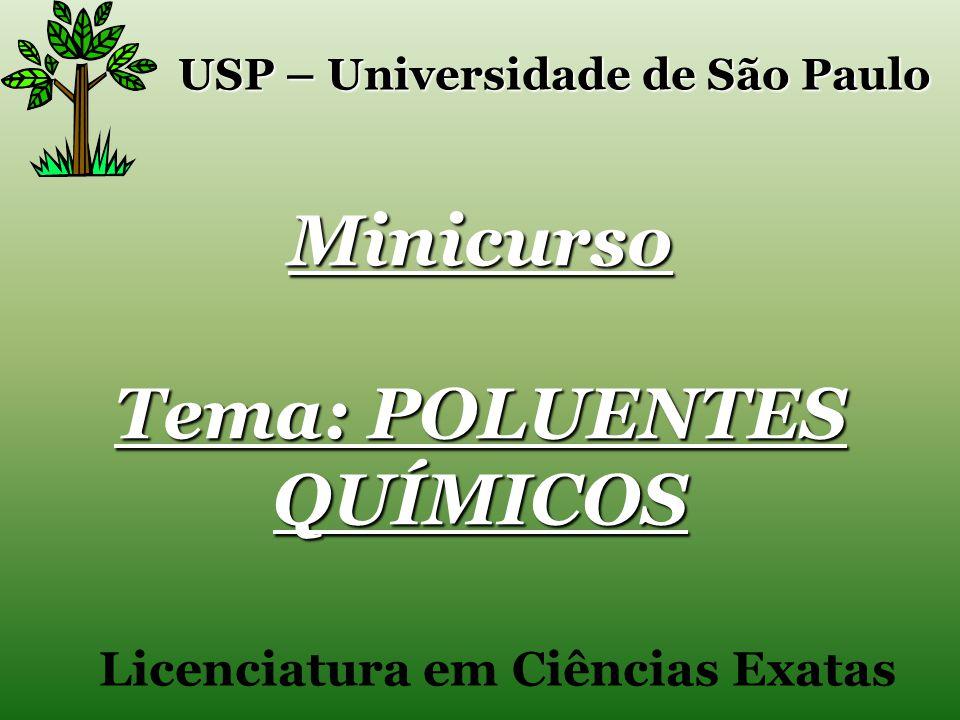 Minicurso Tema: POLUENTES QUÍMICOS