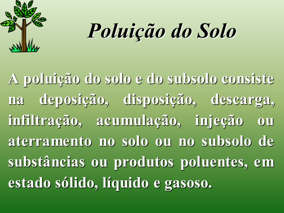 Poluição do Solo