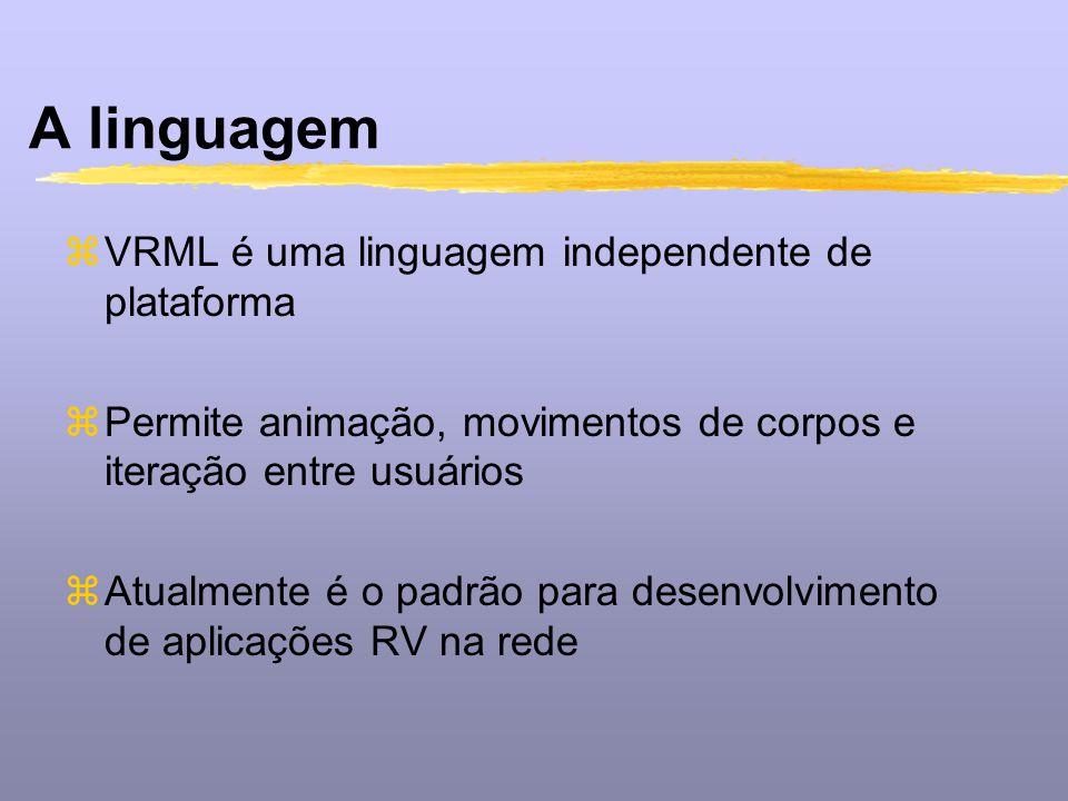 A linguagem VRML é uma linguagem independente de plataforma