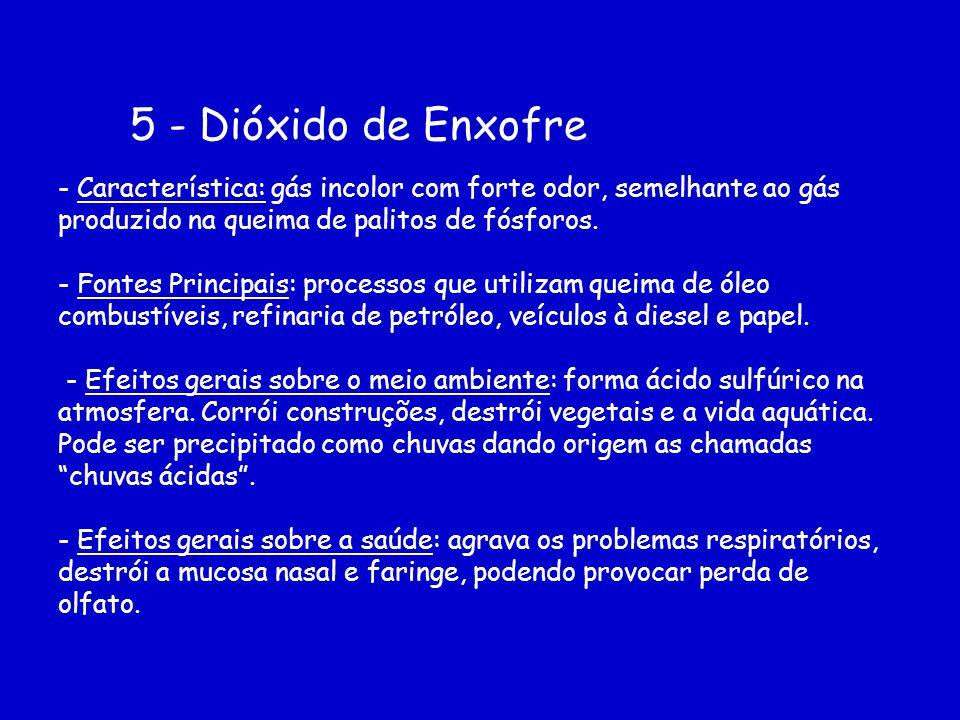 5 - Dióxido de Enxofre