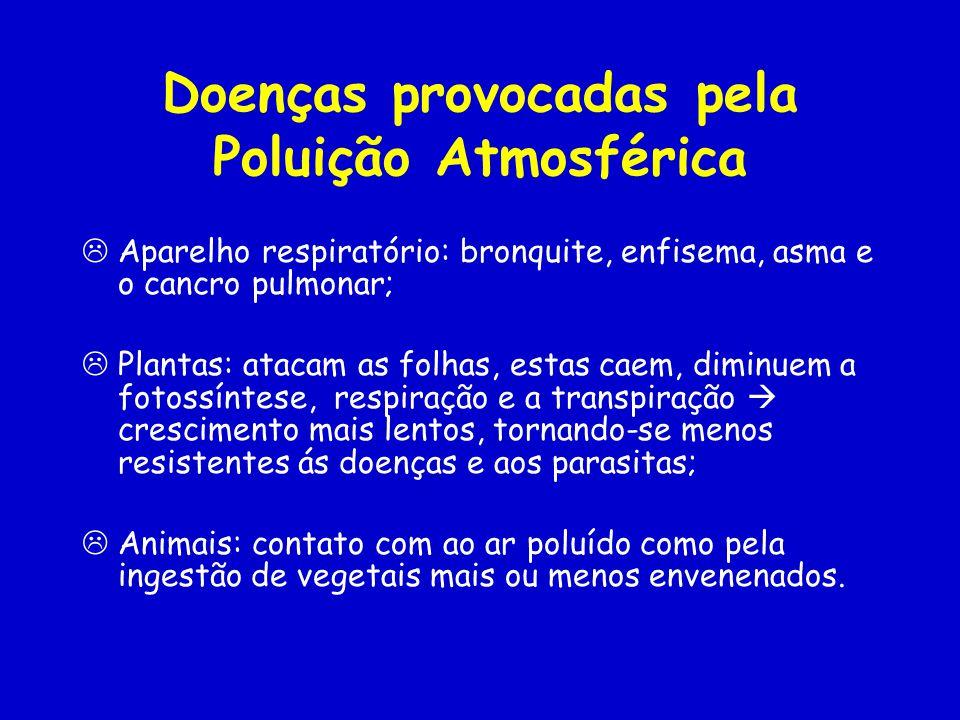 Doenças provocadas pela Poluição Atmosférica