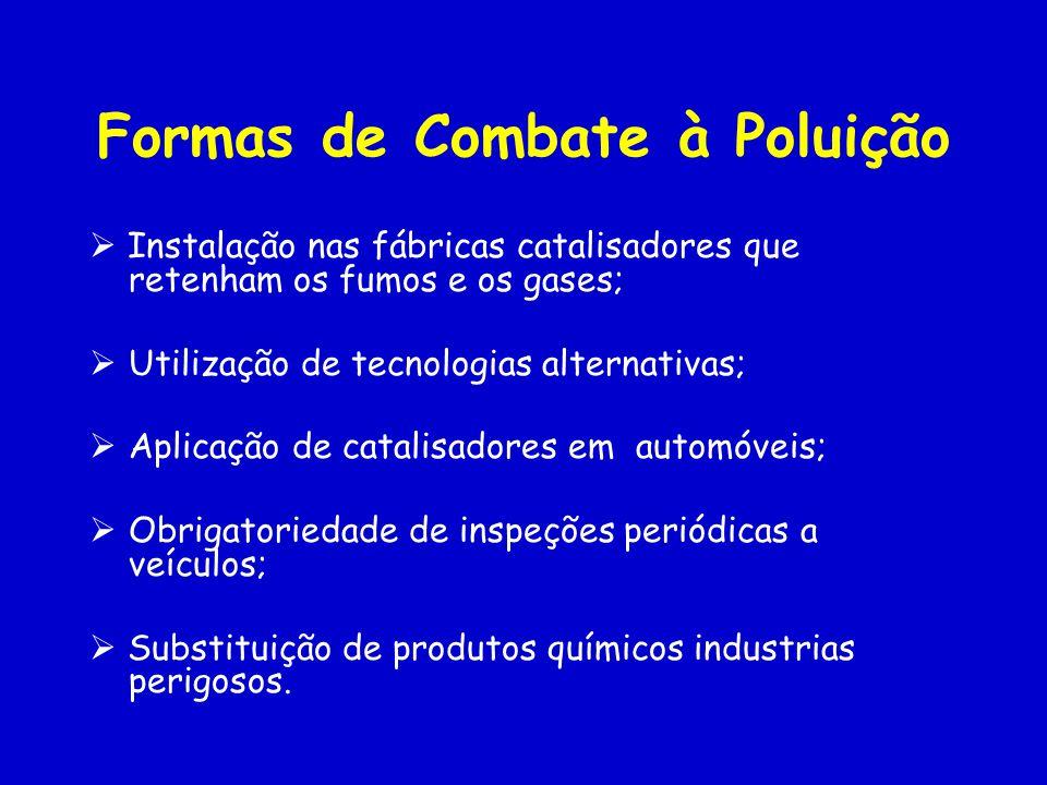 Formas de Combate à Poluição
