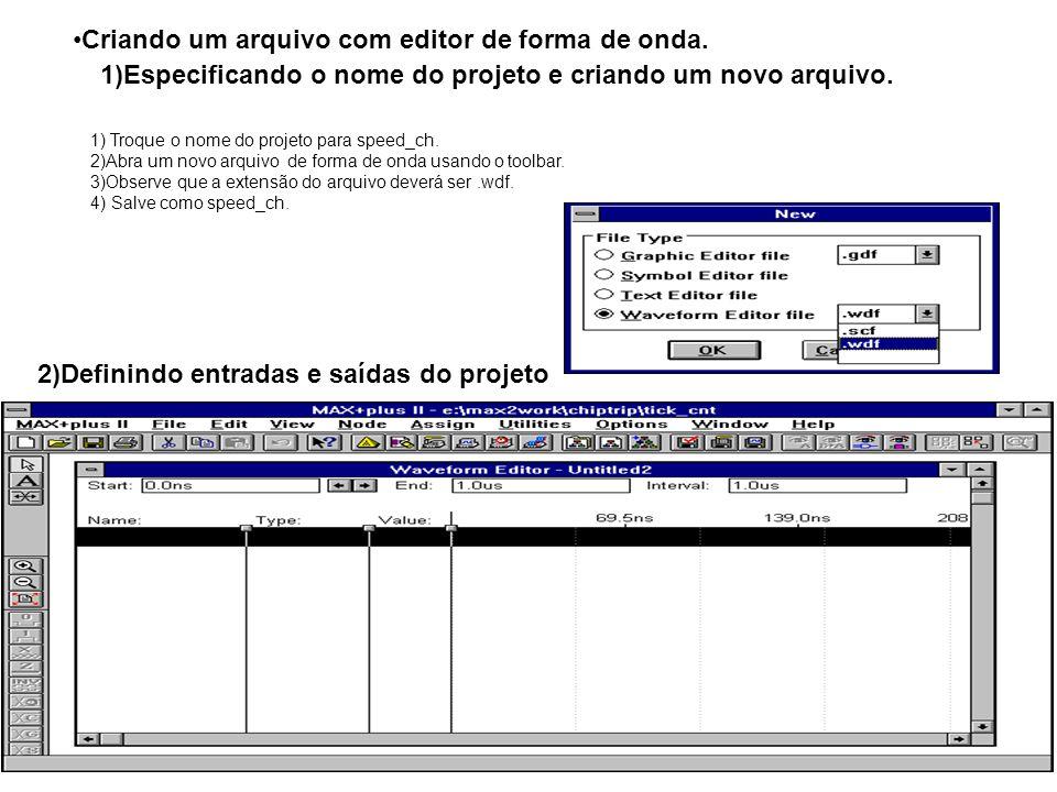 Criando um arquivo com editor de forma de onda.