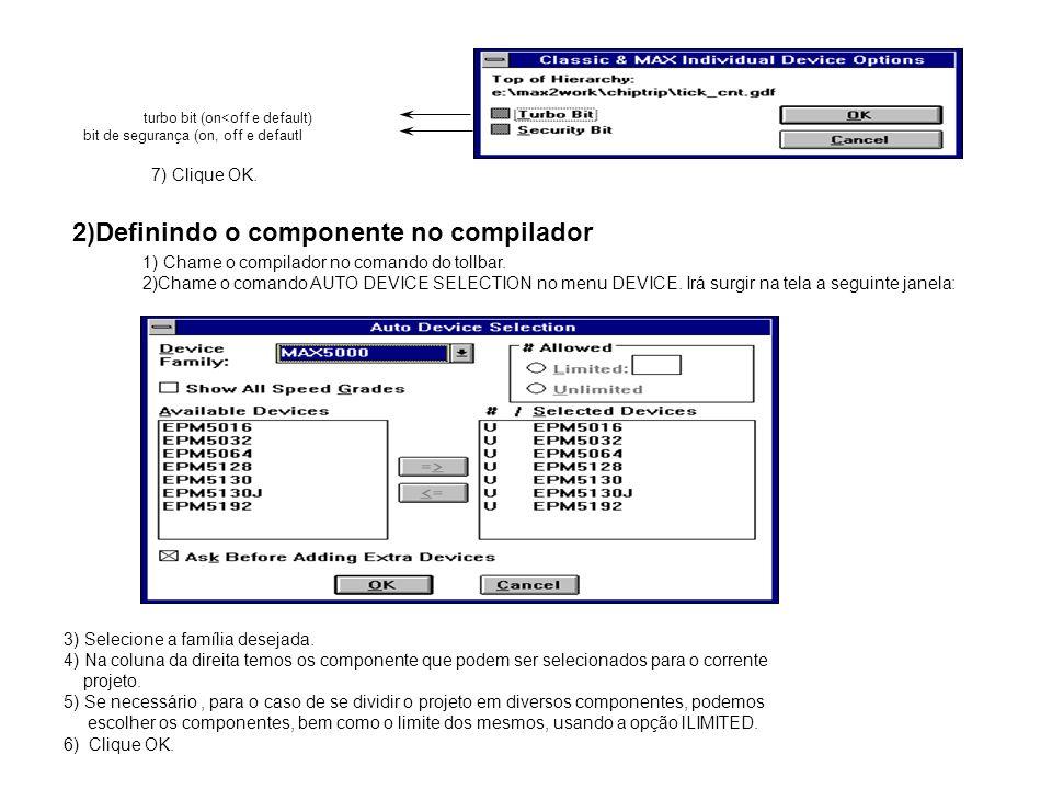 2)Definindo o componente no compilador
