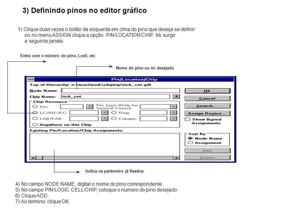3) Definindo pinos no editor gráfico