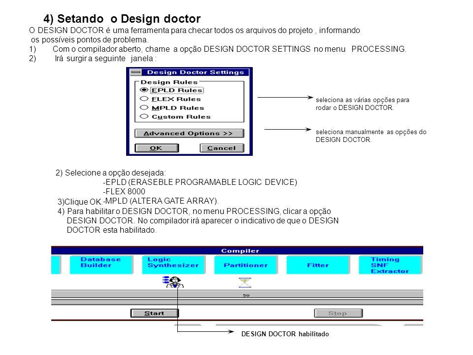 4) Setando o Design doctor