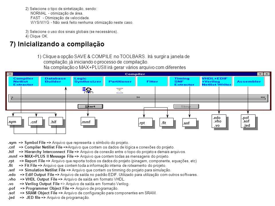7) Inicializando a compilação