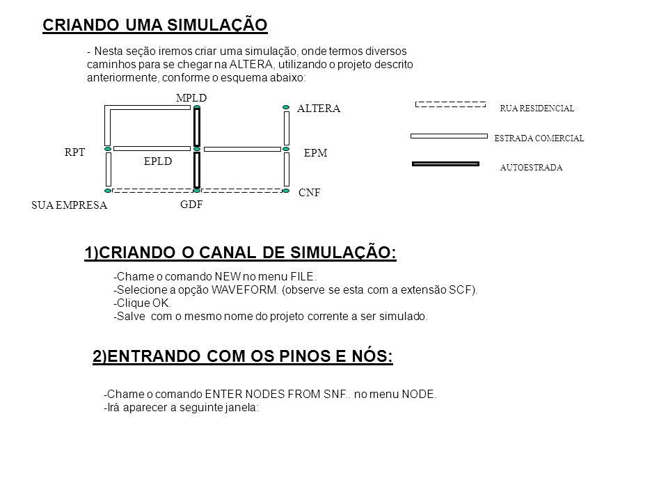 1)CRIANDO O CANAL DE SIMULAÇÃO: