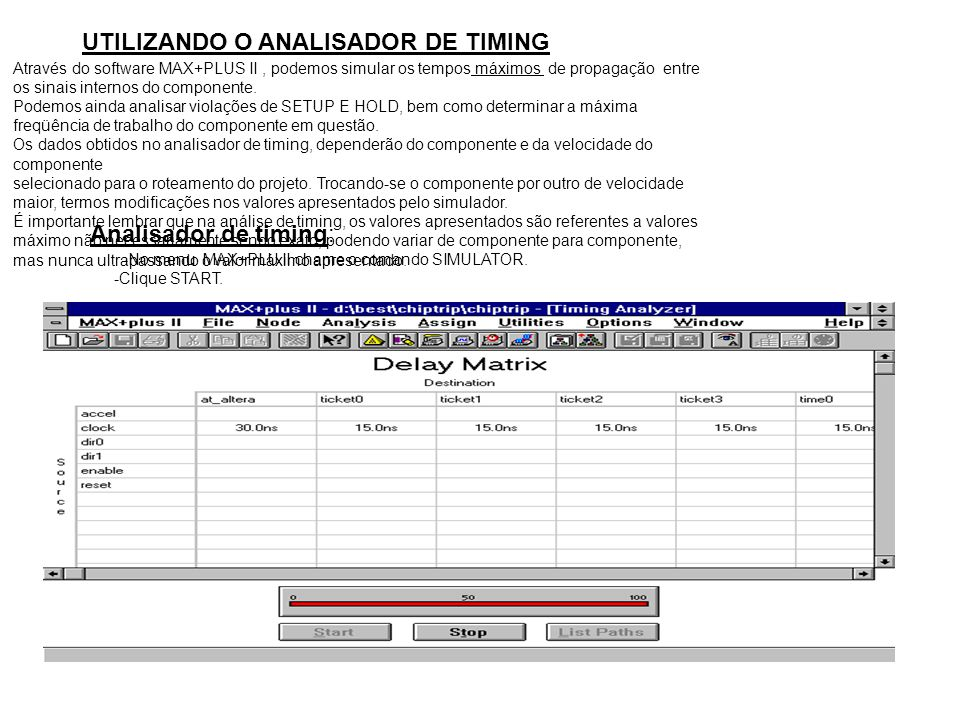 UTILIZANDO O ANALISADOR DE TIMING