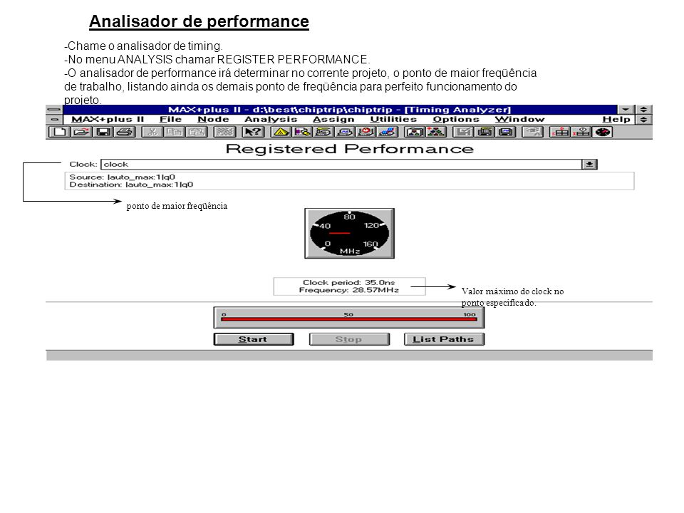 Analisador de performance