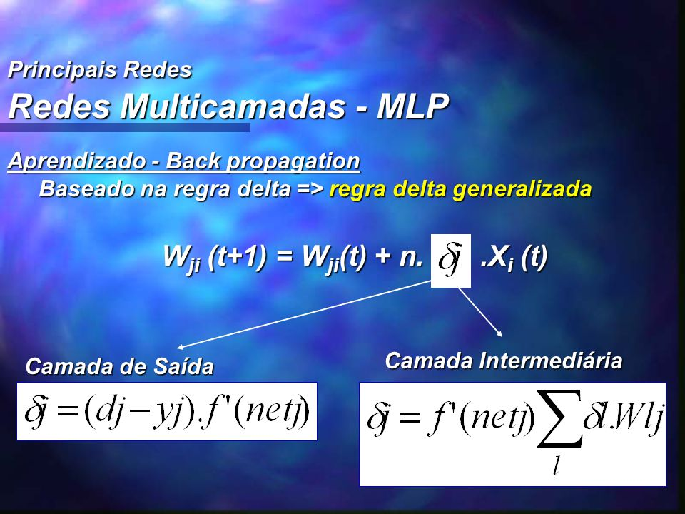 Redes Multicamadas - MLP