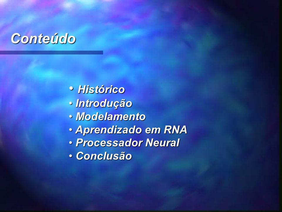 Conteúdo Histórico Introdução Modelamento Aprendizado em RNA