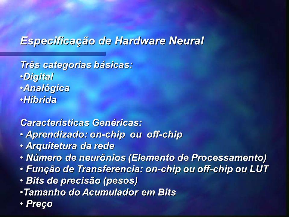 Especificação de Hardware Neural