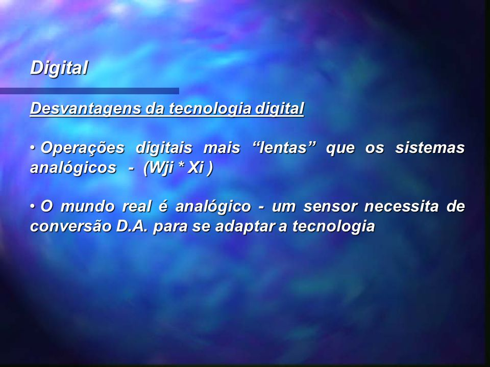 Digital Desvantagens da tecnologia digital