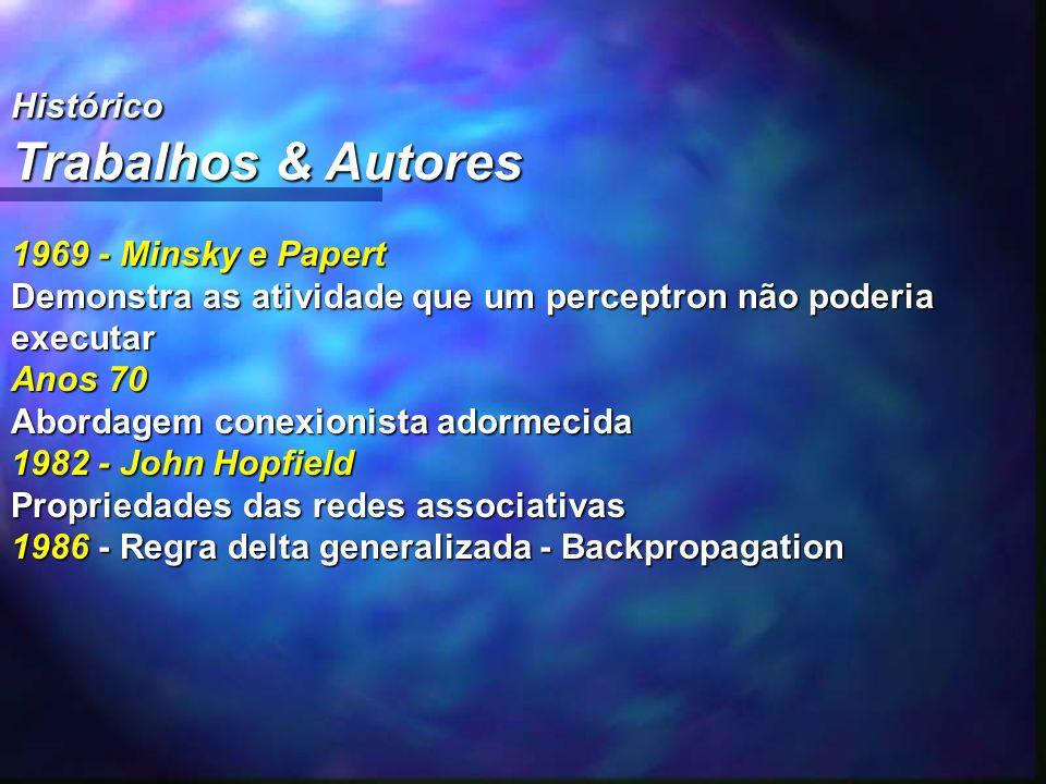 Trabalhos & Autores Histórico 1969 - Minsky e Papert