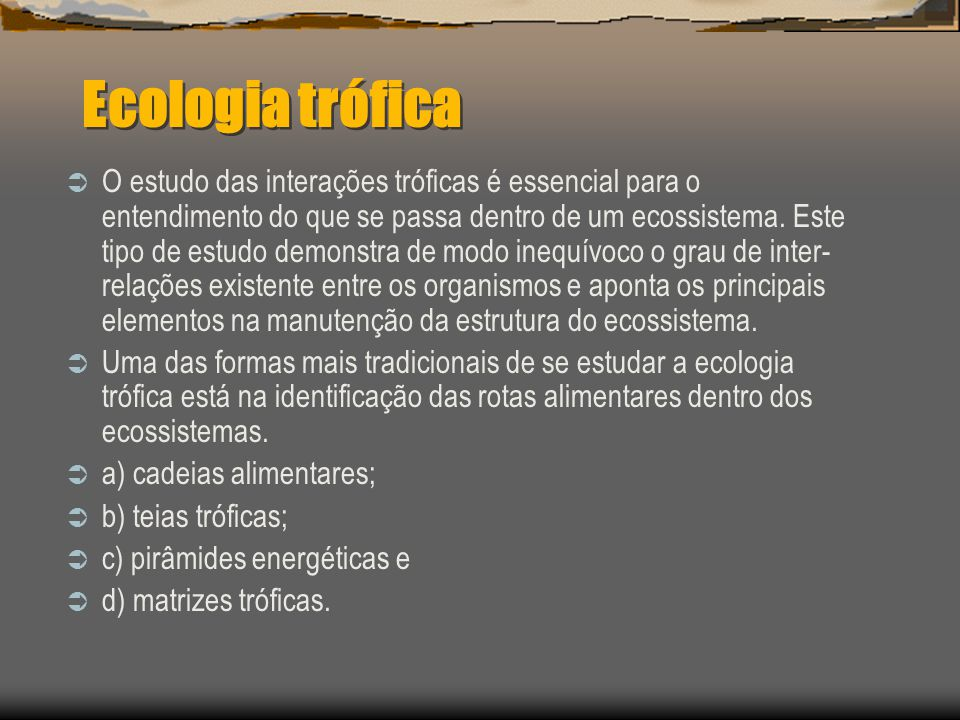 Ecologia trófica