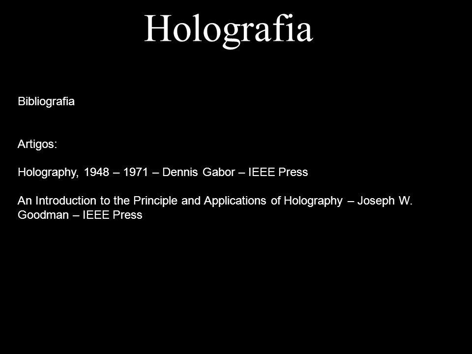 Holografia Bibliografia Artigos: