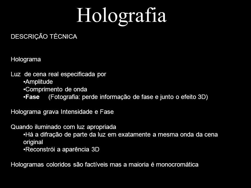 Holografia DESCRIÇÃO TÉCNICA Holograma