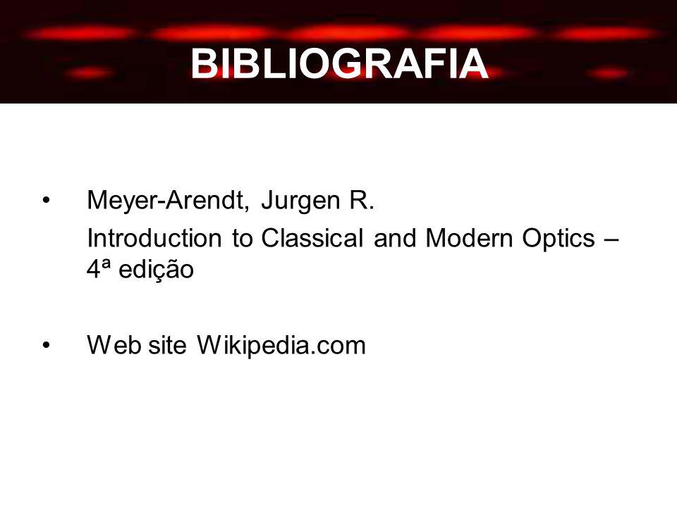 BIBLIOGRAFIA Meyer-Arendt, Jurgen R.