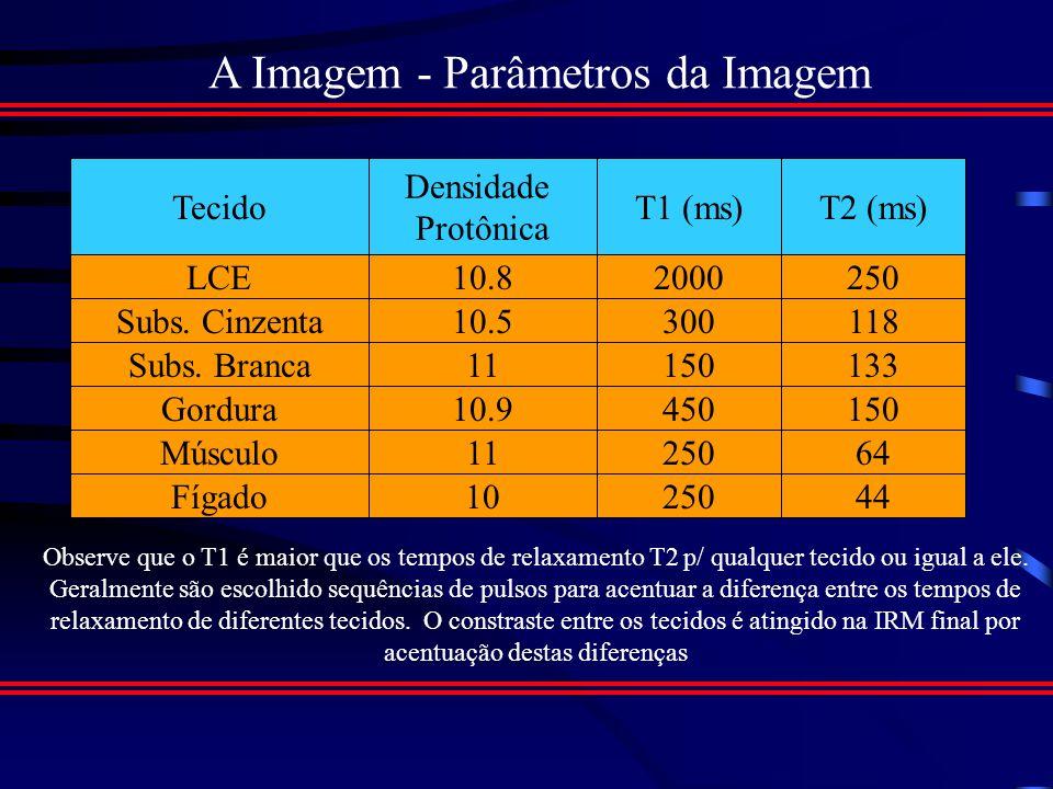 A Imagem - Parâmetros da Imagem