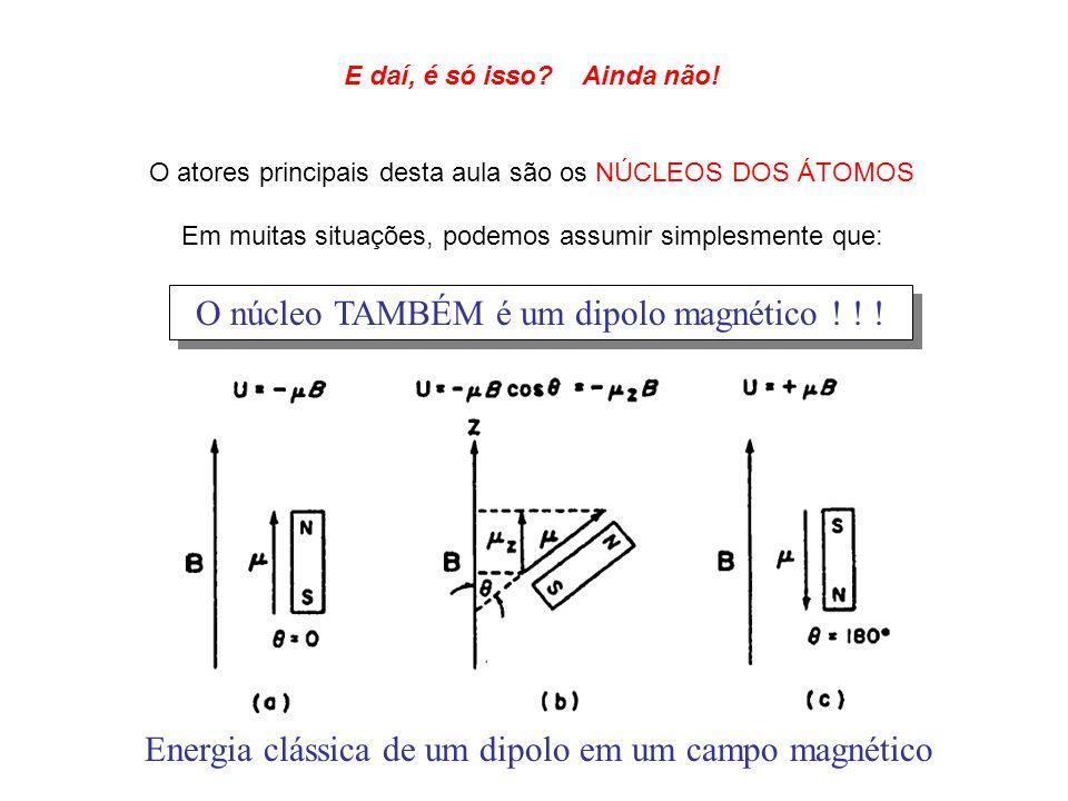 O núcleo TAMBÉM é um dipolo magnético ! ! !