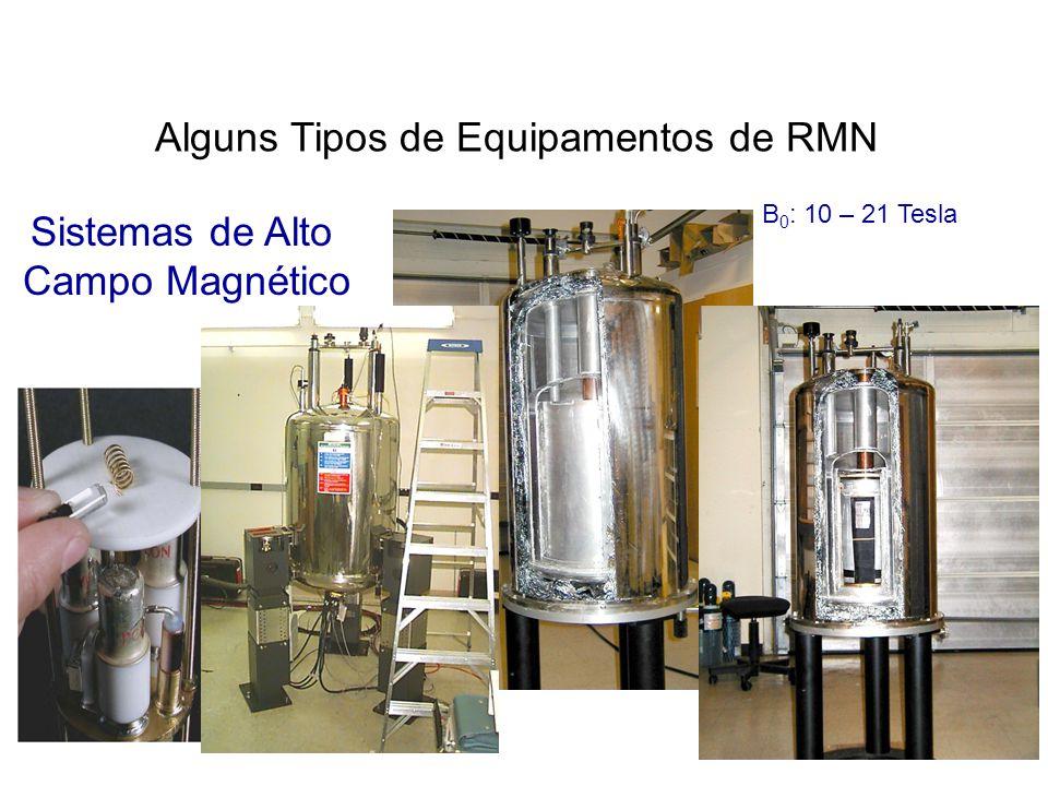 Alguns Tipos de Equipamentos de RMN
