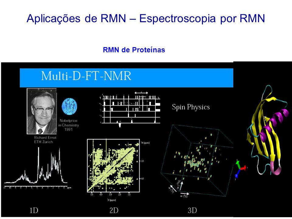 Aplicações de RMN – Espectroscopia por RMN