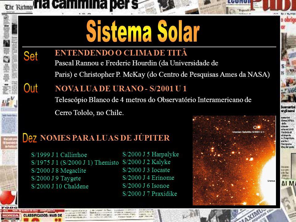 Sistema Solar Set Out Dez ENTENDENDO O CLIMA DE TITÃ