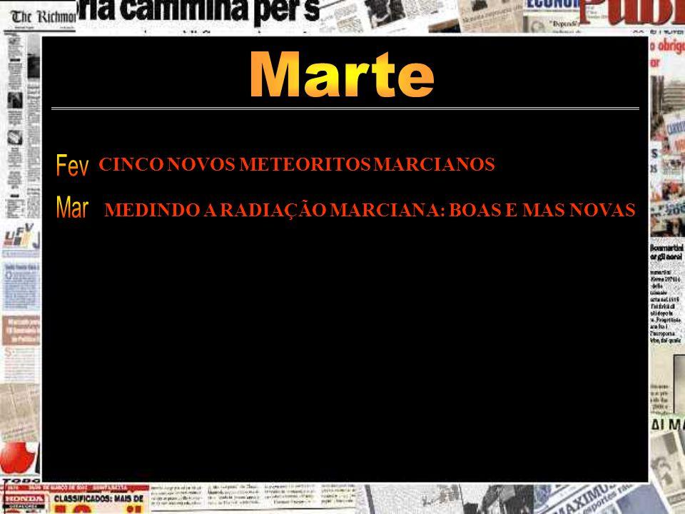 Marte Fev Mar CINCO NOVOS METEORITOS MARCIANOS
