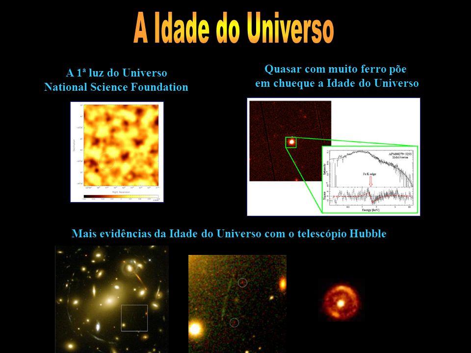A Idade do Universo Quasar com muito ferro põe A 1ª luz do Universo