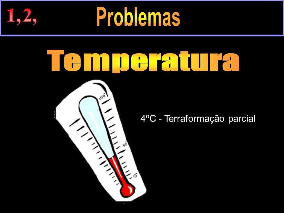 1, 2, Problemas Temperatura 4ºC - Terraformação parcial