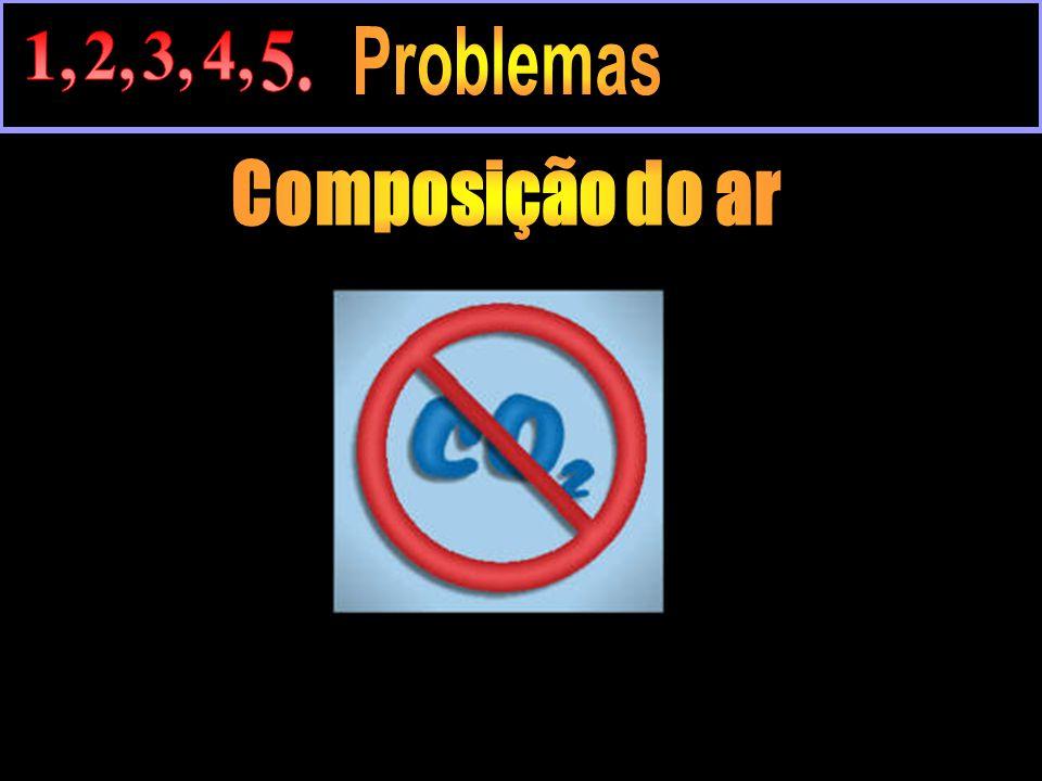1, 2, 3, 4, 5. Problemas Composição do ar