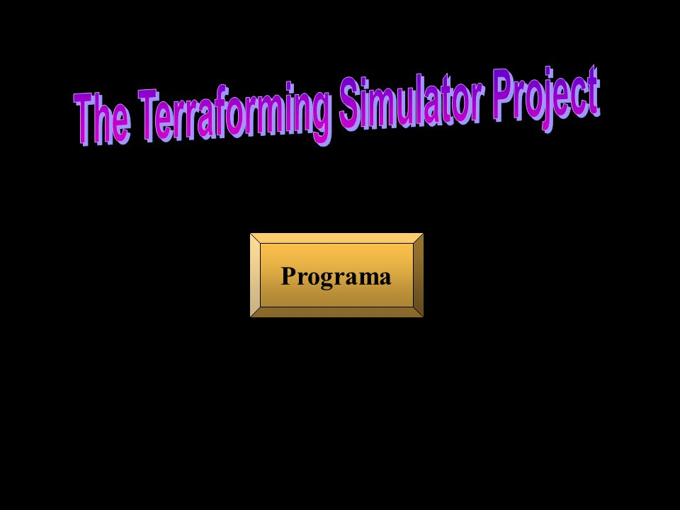 The Terraforming Simulator Project