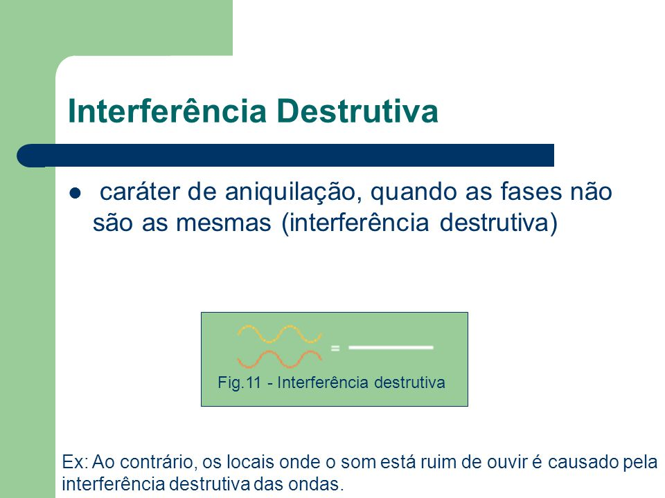 Interferência Destrutiva