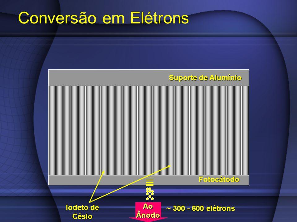 Conversão em Elétrons Suporte de Alumínio Fotocátodo Iodeto de Césio