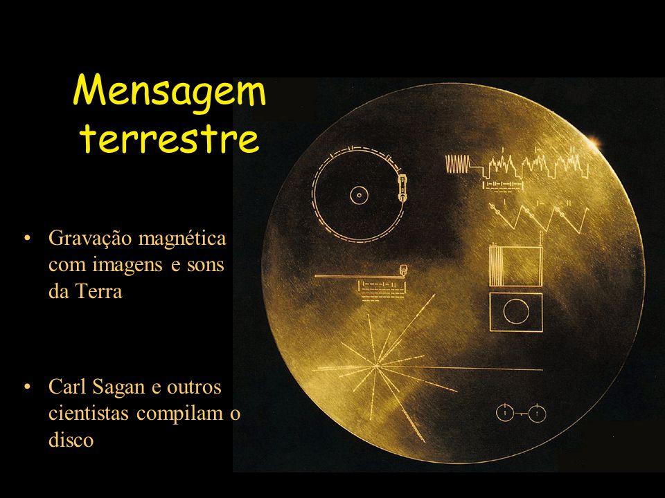 Mensagem terrestre Gravação magnética com imagens e sons da Terra