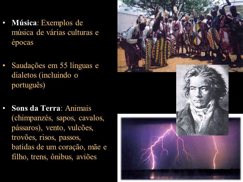 Música: Exemplos de música de várias culturas e épocas