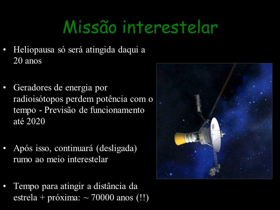 Missão interestelar Heliopausa só será atingida daqui a 20 anos