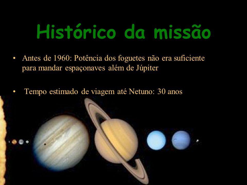 Histórico da missão Antes de 1960: Potência dos foguetes não era suficiente para mandar espaçonaves além de Júpiter.