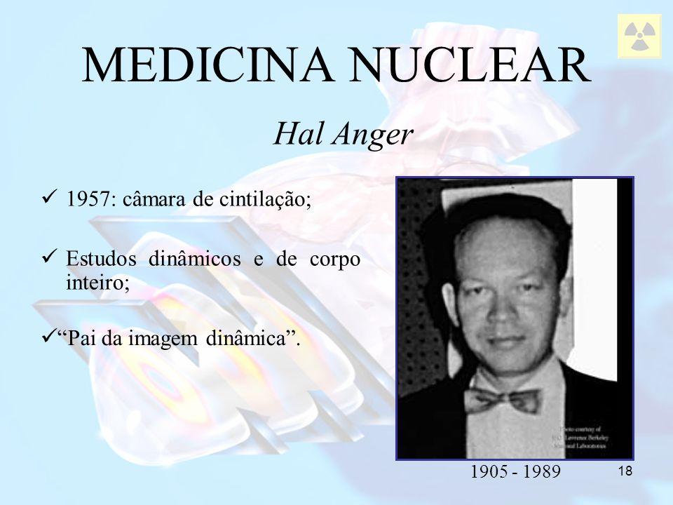 MEDICINA NUCLEAR Hal Anger 1957: câmara de cintilação;