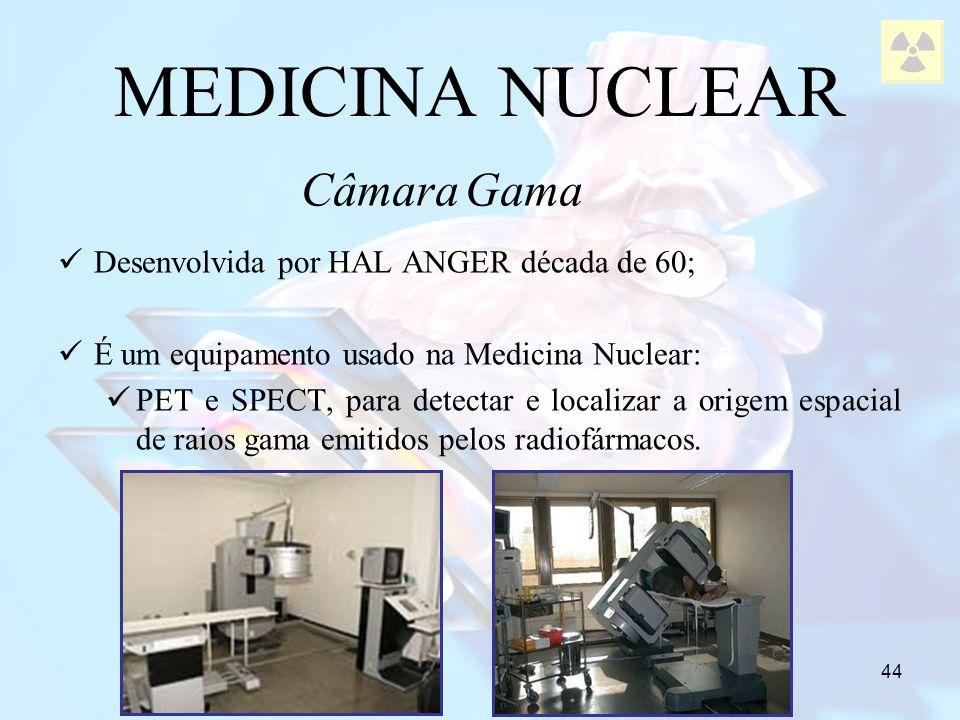 MEDICINA NUCLEAR Câmara Gama Desenvolvida por HAL ANGER década de 60;