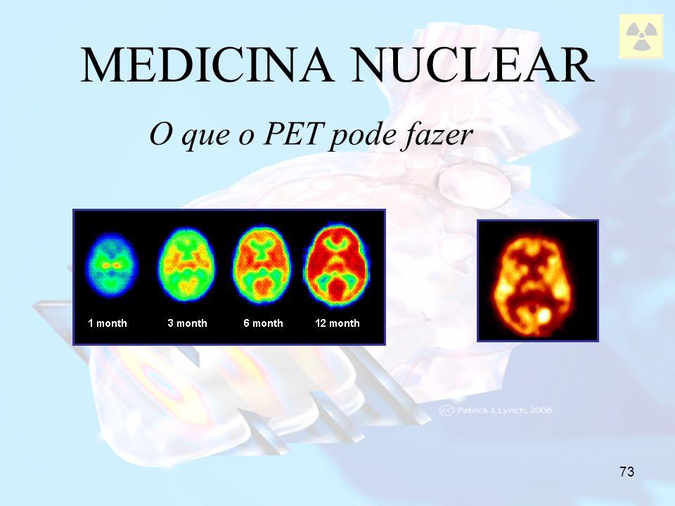 MEDICINA NUCLEAR O que o PET pode fazer