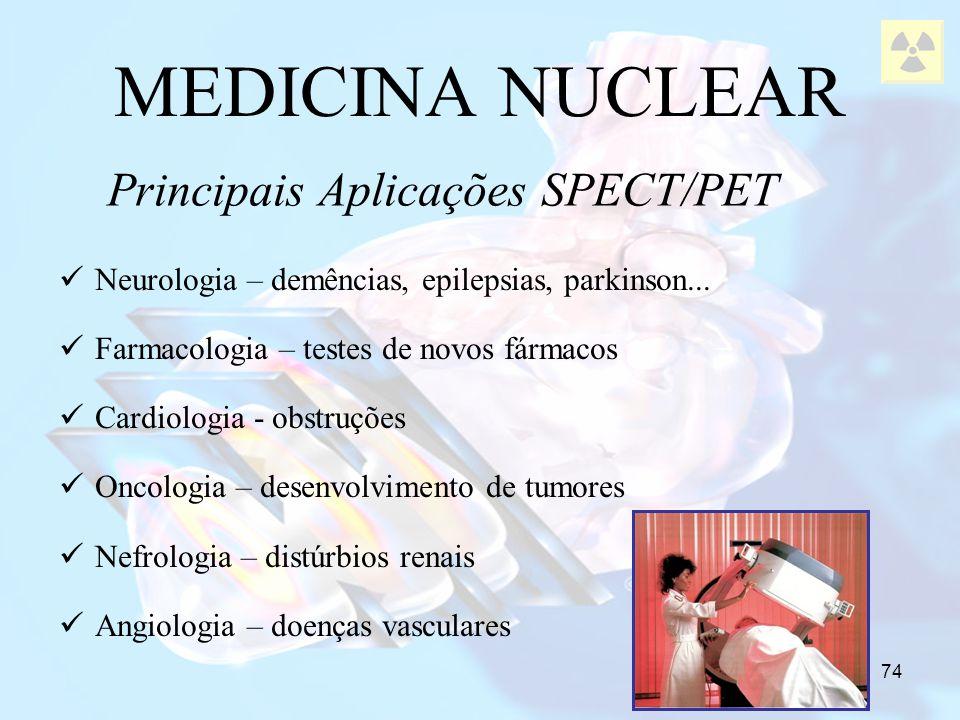 Principais Aplicações SPECT/PET