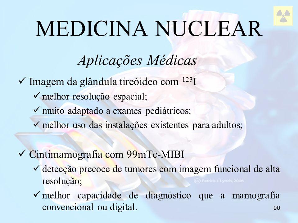 MEDICINA NUCLEAR Aplicações Médicas